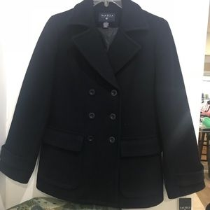 NEW🌹Náutica Wool Navy Blue Peacoat Classic ❤️